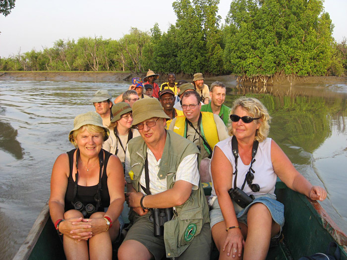 Birdfinders' group, Gambia 2006