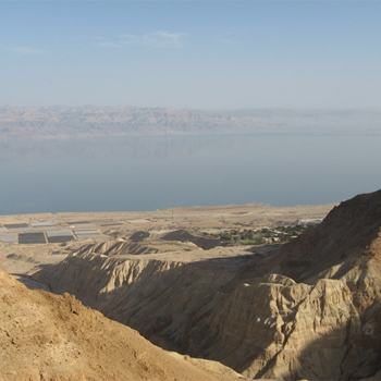 Overlooking the Dead Sea